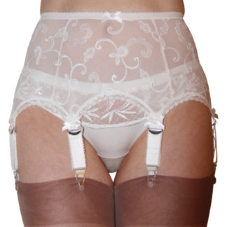 6 strap lace suspender belt Paris