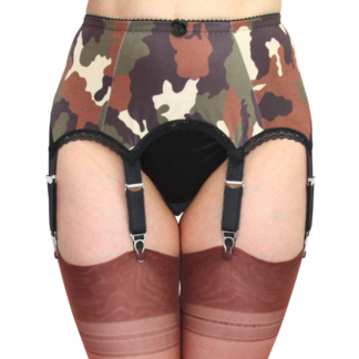 8 Strap Garter Belt camoflage military look