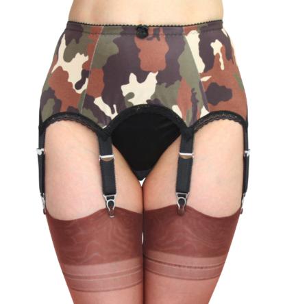 8 Strap Garter Belt camoflage military look