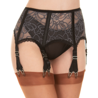 Y Clip garter belt with double clips suspender belt with 12 clips finest lace